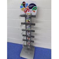 Buy cheap Freestanding Metal Chocolate Sweet Display Stand 12 Hooks For Snacks Store product