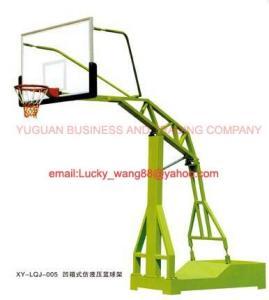Tipo interior o al aire libre del soporte hidráulico de imitación encajonado cóncavo del baloncesto