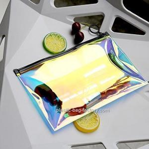 Hot - Stamping TPU Film PVC Cosmetic Bag For Girl / Clear Makeup Organizer