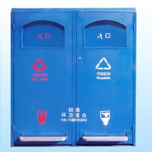 廃物の部屋の屋外の小さいリサイクルの容器の大箱