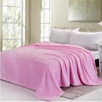 Buy cheap Blue / Pink Colorful Coral Custom Fleece Blankets , Polyester Soft Kids Fleece Blanket product