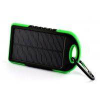 Buy cheap Outdoor Waterproof Solar Power Bank 5000 MAh , Portable Solar Battery Charger product
