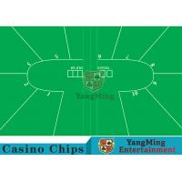Buy cheap Texas Holdem Standard Casino Table Layout Green With 100% Polyester Fabric product