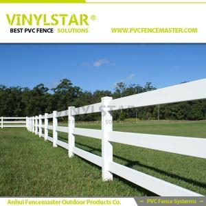 Buy cheap pvc horse fence with 3 heavy rail, 100% virgin PVC product