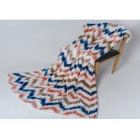 Buy cheap Super Soft Warm Plush Polyester Fleece Blanket Sofa Bed Couch Modern Printed Stripe product