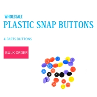 Buy cheap Plastic Snap Buttons 10mm 4 Parts product