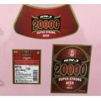 Buy cheap Custom Made Self Adhesive Beer Labels Square Matte / Glossy Lamination product