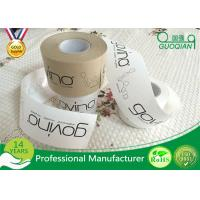 Buy cheap Brown / White Color Kraft Paper Tape Customized Reinforced Gummed Kraft Paper Tape product