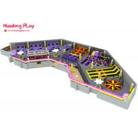 Buy cheap New Bounce Trampoline Park Equipment , Durable Toddler Trampoline 1900 ㎡ product