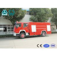 Buy cheap Emergency Rescue Fire Fighting Truck 4 X 2 Red Color 16 Ton Crane Capacity product