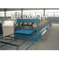 China Corrugated Zinc Coated Metal Sheet Roof Roll Forming Machine Electrical System on sale