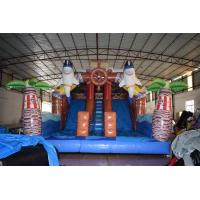 Buy cheap Pirate Themed Dolphins Commercial Inflatable Water Slides For Rental In Amusement Park Inflatable Pirate Dry Slide product