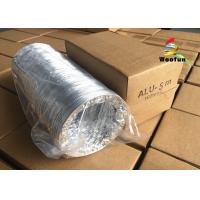 China HVAC System Range Hood Exhaust Duct Double / Single Aluminum Foil With Fire Resistant Materials wholesale