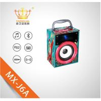 China Wooden mini portable wireless bluetooth speaker with LED lights suitable for  phones and computers on sale