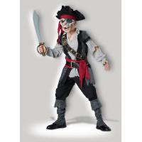 China Zombie Pirate 7053 Teen Boy Halloween Costumes Gray Black Red For Christmas on sale