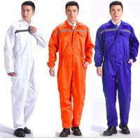 Buy cheap Breathable Flame Retardant Insulated Coveralls Anti - Wrinkle With Reflective Tape product