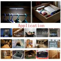 China super bright led battery operated ir infrared motion sensor night light lamp bar under cabinet light cool white on sale