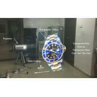 Buy cheap 170 Degree Self Adhesive Rear Projection Film Holographic Display product