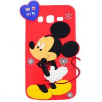 China mickey rubber silicon Case For iPhone 4 5s 6s plus SAMSUNG galaxy s5 s4 S6 S7 NOTE 3 5 wholesale