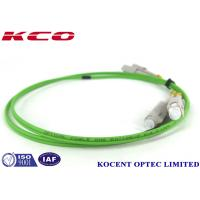 Buy cheap Lime Green Single Mode Fiber Optic Patch Cables 50/125 OM5 SC Duplex Simplex product