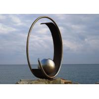 Buy cheap Modern Stainless Steel Outdoor Metal Public Art Sculpture with Sphere from wholesalers