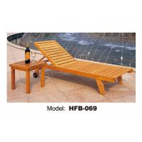 wooden sun lounger with armrest for teak furniture 101019310. Black Bedroom Furniture Sets. Home Design Ideas