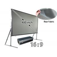 Motorized rear projection screen quality motorized rear for Motorized floor up screen