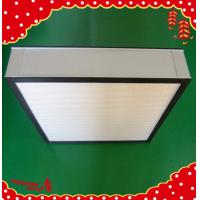 Buy cheap High efficiency particulate aluminum frame pleated panel Hepa filter product