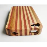 Buy cheap Iphone de madera colorido hecho a mano 4 casos de madera con el logotipo modificado para requisitos particulares product