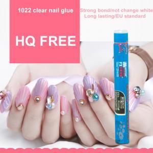 Buy cheap 1.5g HQ free(below 200PPM) clear Nail glue nail art for stick fake nail product