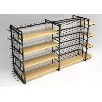 Buy cheap Flooring Stand Retail Display Shelves / Commercial Store Fixtures With Hooks product
