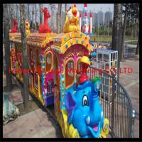 Buy cheap Elephant theme big amusement park rides kiddy train for sale / amusement park electric trains product