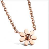 Buy cheap Fleur rose necklace-N02 d'acier titanique rose d'or de bijoux de Drjobson product