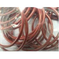 Encapsulated Silicone O Ring Seals , Red High Temperature Rubber Silicone Rings
