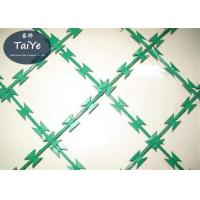 Buy cheap Green Color Welded Razor Wire Mesh Panel Industrial Razor Mesh Fence Protect product