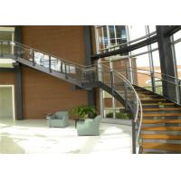 2018  Round glass staircase / modern stainless steel curved staircase kits for you