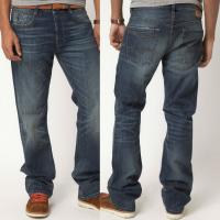 Buy cheap Pocket denim jeans cheap straight leg jeans indigo   product