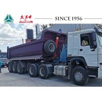 Buy cheap 24CBM 30 Tons Tipper Semi Trailer Heavy Duty Dump Trailer With 3 Axle from wholesalers