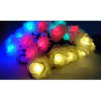Buy cheap artificial flowers that light up battery crystal rose string light product