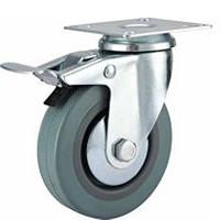 Buy cheap Total brake grey rubber caster product
