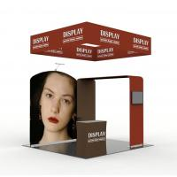 Buy cheap Aluminum Tube Pop Up Exhibition Display Tension Fabric Vivid Graphic Image product