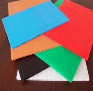 Buy cheap Folhas plásticas onduladas da proteção do assoalho de Correx da folha da parede gêmea rígida colorida dos PP product