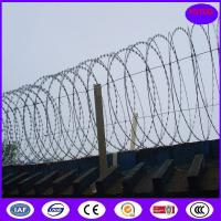 Buy cheap China HIgh security Hot Dipped Galvanized 600mm Flat Wrap Razor Wire with heavy clips product