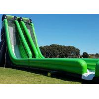 Buy cheap 0.55mm PVC Tarpaulin Giant Inflatable Slides With Double Stitching from wholesalers