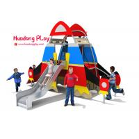 Daycare HDPE Playground  Steel Tube Material 460*370*300cm Wide Color Range