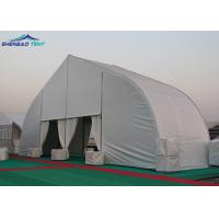 Buy cheap Small Width TFS Curve Aluminium Frame Marquee Solid Wall Fire Retardant PVC Roof Cover from wholesalers