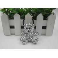 Quality Shining Rhinestone Resin Bear Beautiful Key Chains Light Convenience For Kids for sale