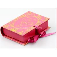 Buy cheap Book Style Branded Gift Boxes Pink Color Customize paper Unique Socks Packaging product
