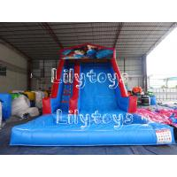 China Blue Waterproof Fun Backyard Inflatable Water Slide For Rent , Blow Up Water Slides on sale