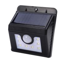 China Outdoor Wall Light 8 LED Triangular Model Solar Power Waterproof PIR Motion Sensor human induction wall-mounted Wall wholesale
